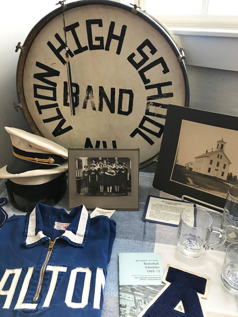 Alton school memorabilia.