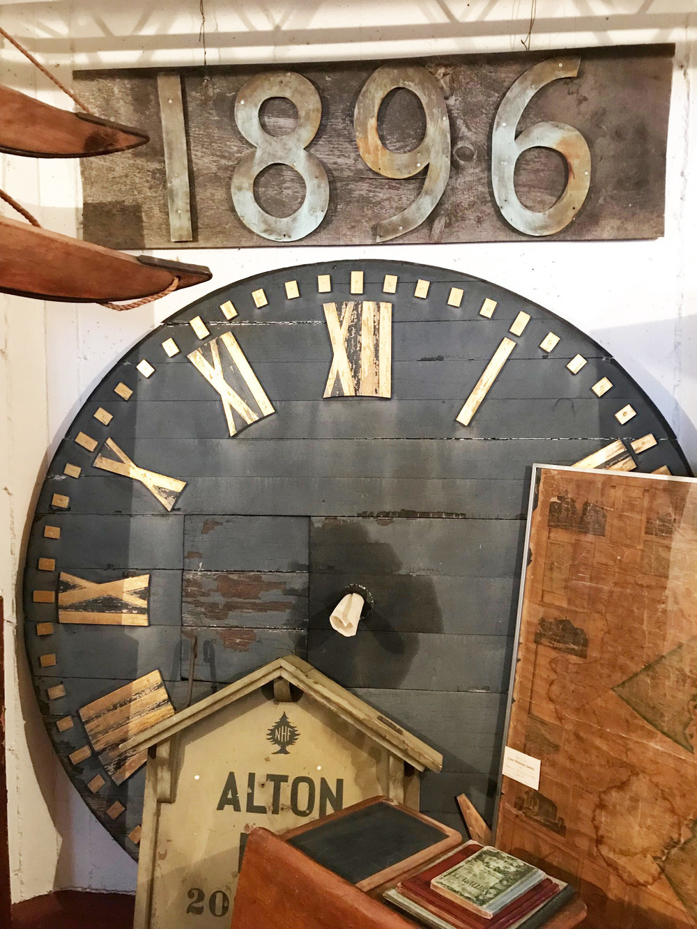 The clock and other Alton items from the past.