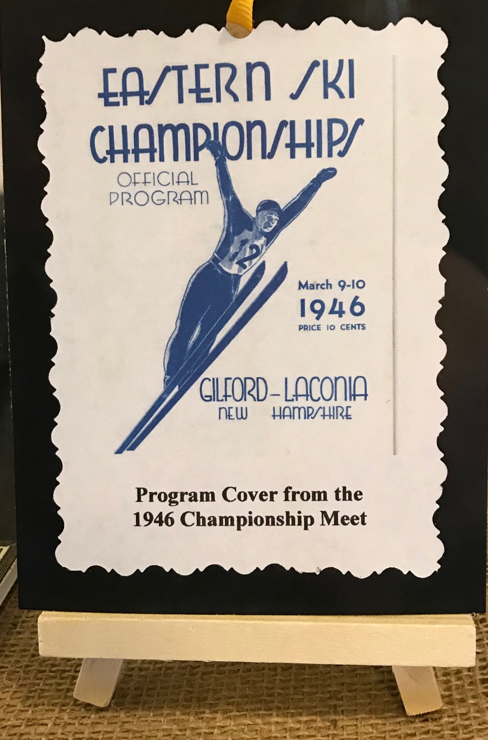 Old pamplet from ski jump competitions