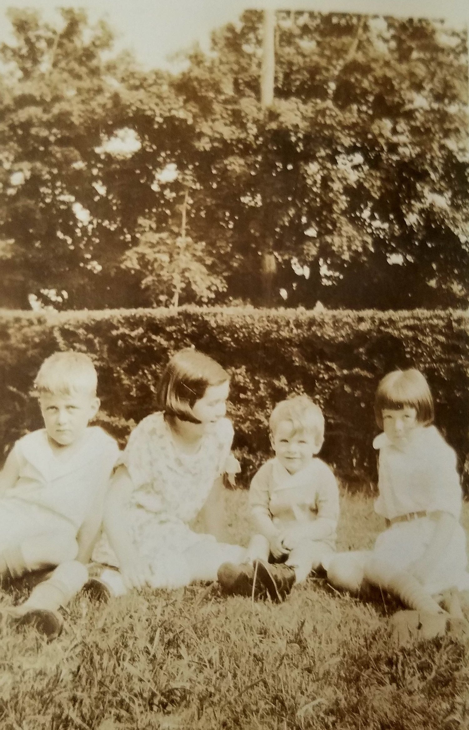 Jane McLaughlin Walsh (second from left) remembered standing in her yard with her siblings watching the Hurricane of 1938 tumble trees around them. (Courtesy Mary Collins)