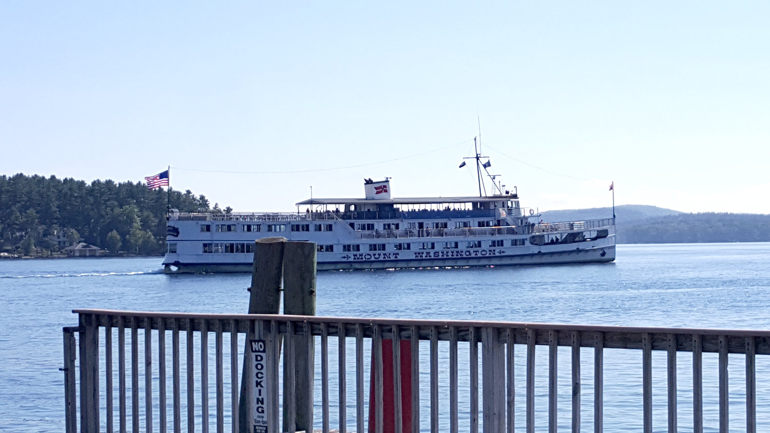 MS Mount Washington leaves Wolfeboro Town Docks