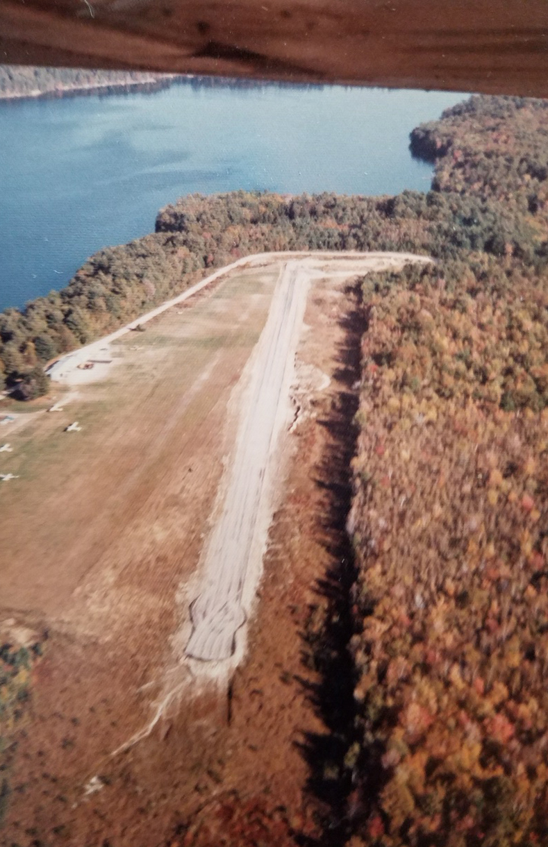 Aerial view of the airport area. (Courtesy Wolfeboro Historical Society)