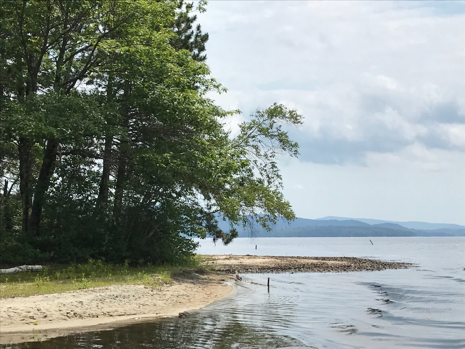 A beachy area on Newfound Lake