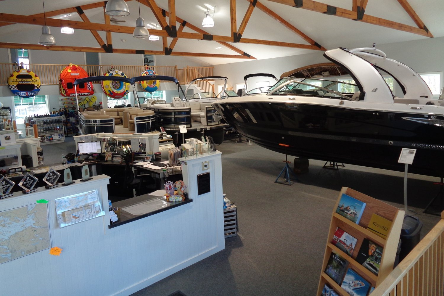 Melvin Village Marina showroom
