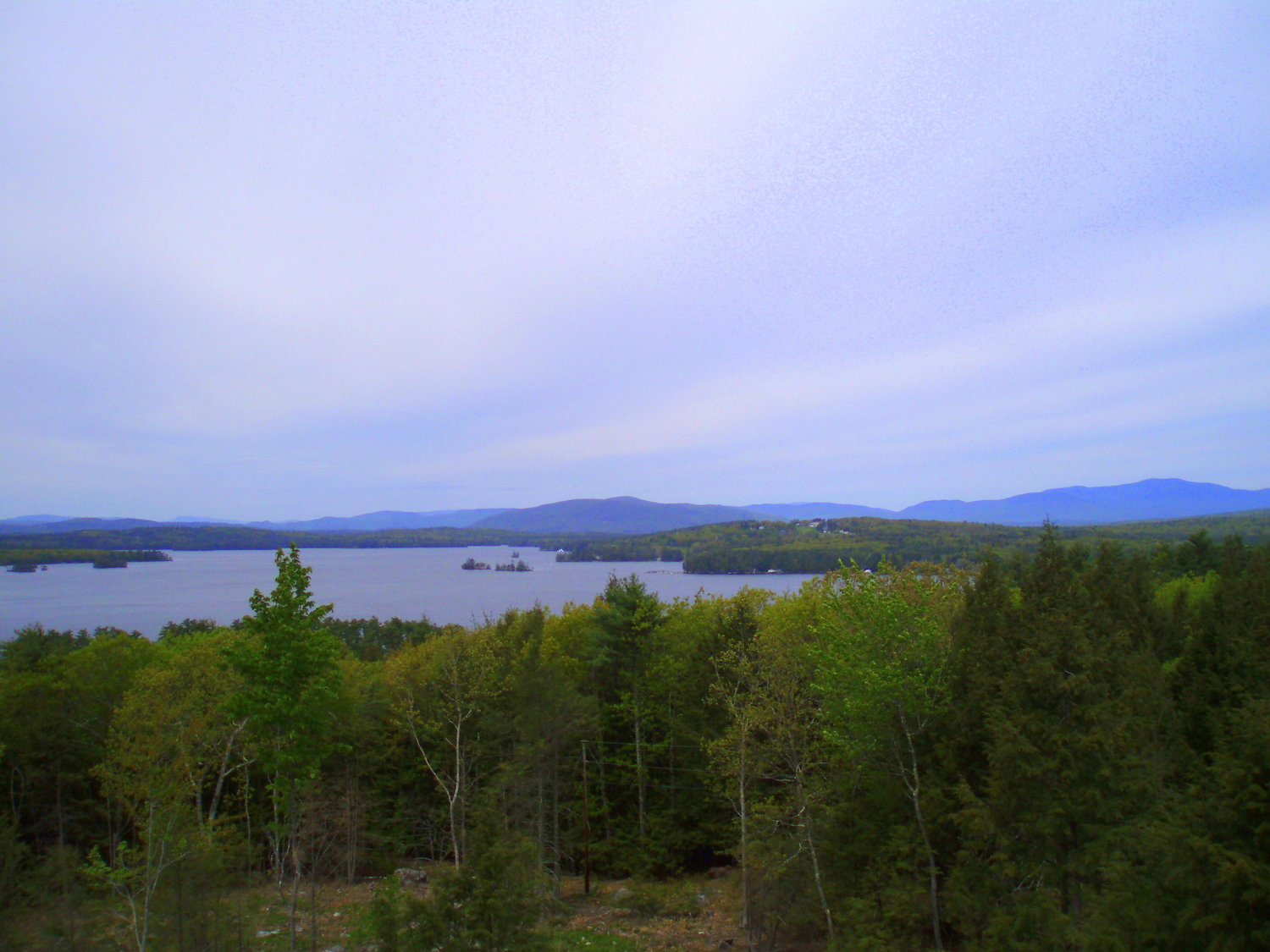 The lake view from atop the tower.