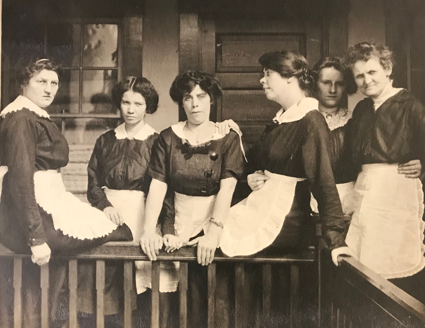 Portrait of waitstaff at The Balsams, circa 1915, Stephen Barba collection.