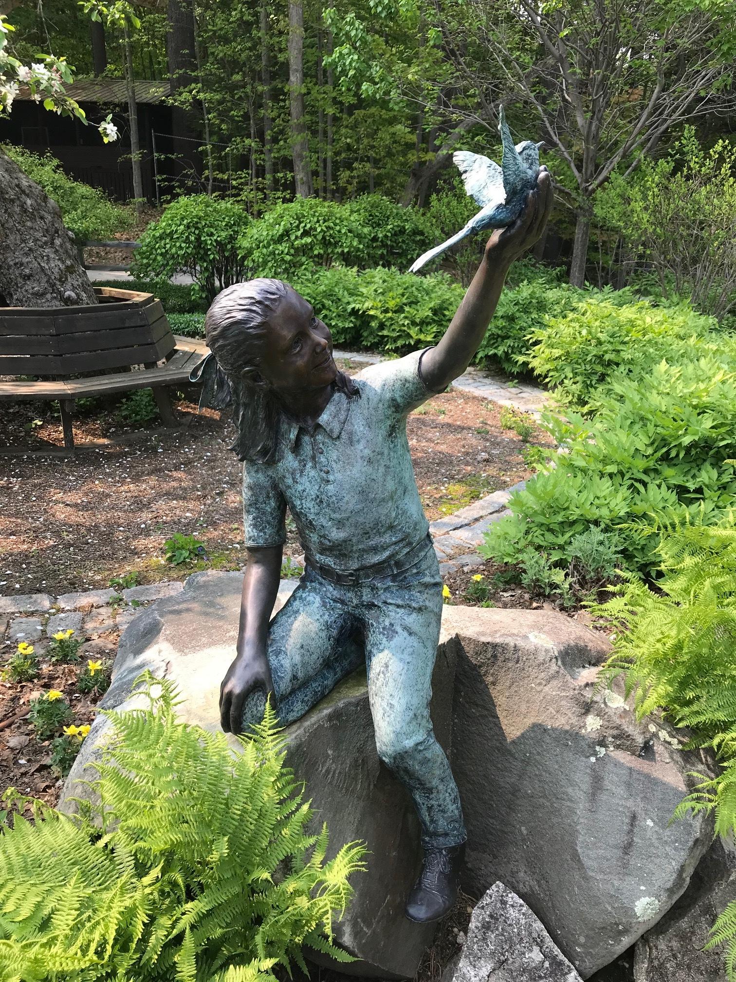 Charming sculpture at Kirkwood Garden