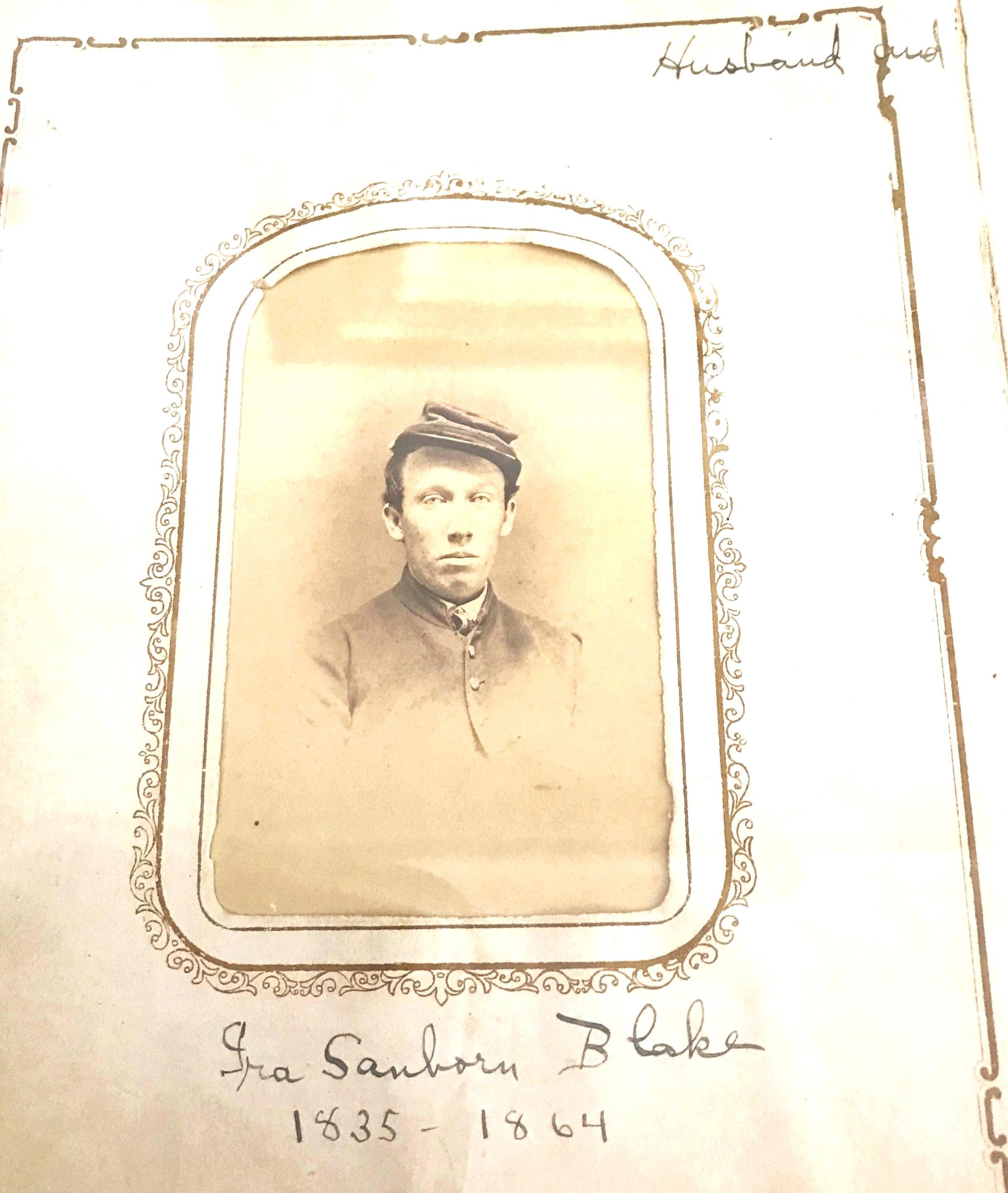 Tamworth resident, Ira Blake, a Civil War soldier.