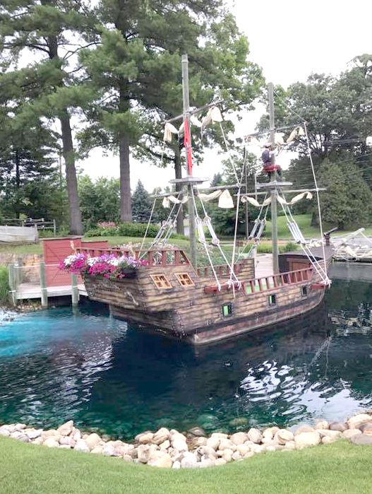 A section of the property at Pirate's Cove Adventure Golf.