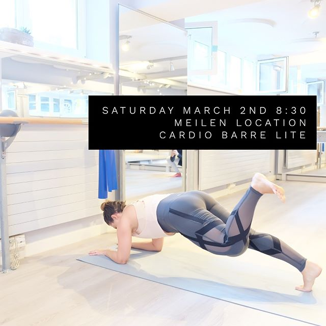Our first Saturday class in Meilen is this week! Join @klwehrli and her killer cardio Barre lite class 🔥🔥 8:30am Bahnhofstasse 18 Meilen🎉. . message us to reserve your mat for a drop-in class!! . . . #zurichfitness #meilenfitness #barreclasses #cardio #groupworkout #workout #fitness #barre #studio #uerikon #männedorf #staefa #erlenbach #küsnacht #saturday #sweatlife