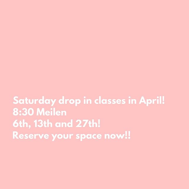Guys! We love how much YOU love our Saturday pop-up classes in Meilen!! Join us every Saturday except Easter weekend for a sweaty fun filled killer workout!!!👏🏽👏🏽👏🏽. . . Email or DM to reserve your space! We will send you an invoice and hold your mat!!!. . . #meilen #fitness #barre #classes #uerikon #erlenbach #zurichfitness #männedorf #switzerland #workout #grouptraining #barrebody #sweat #joblove #pilates #yoga #fitness #seefeld