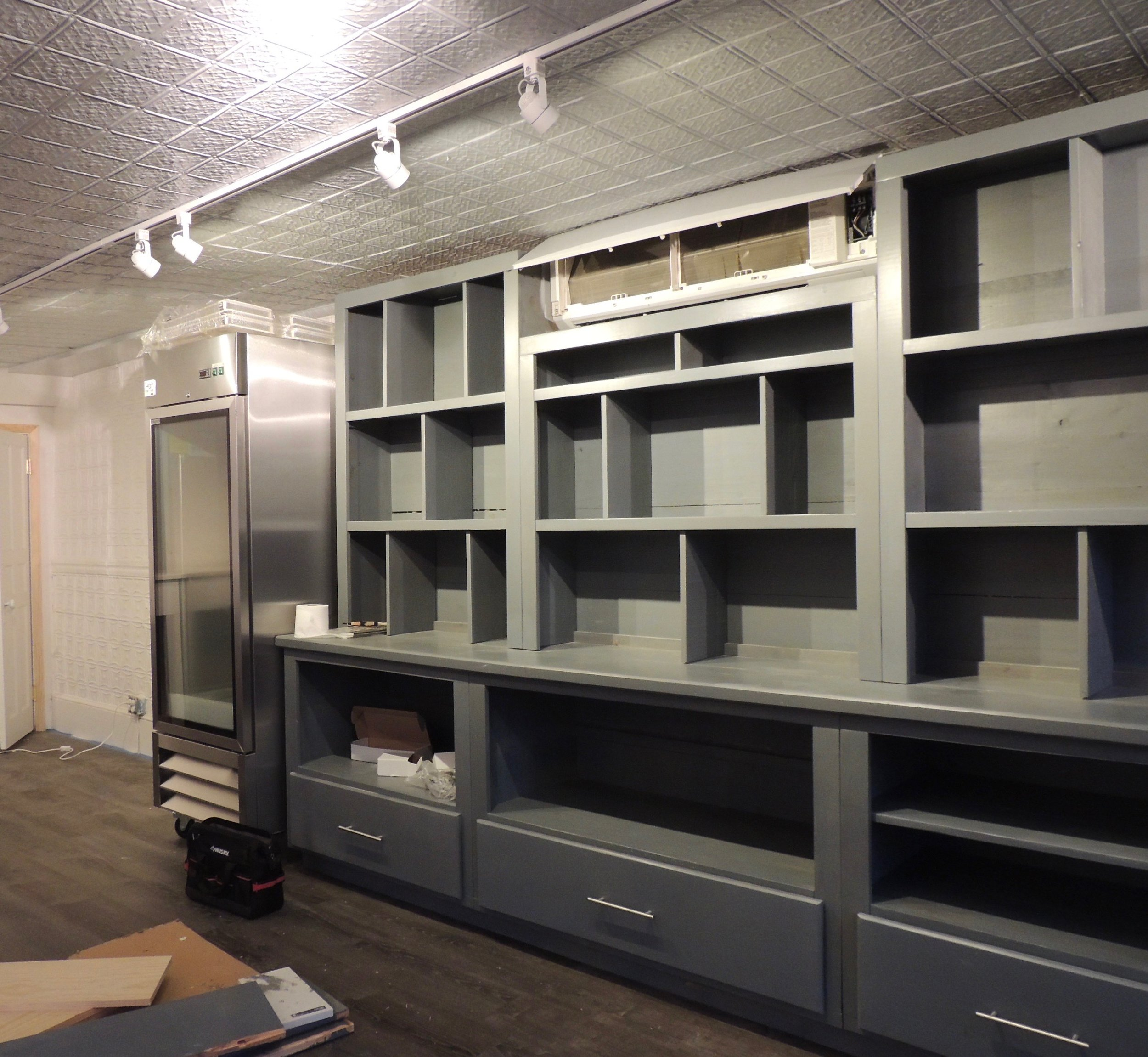 Custom shelving made by John Matson from Matson Construction LLC