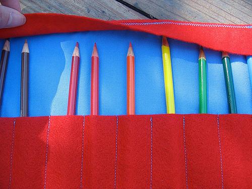 felt pencil roll-up