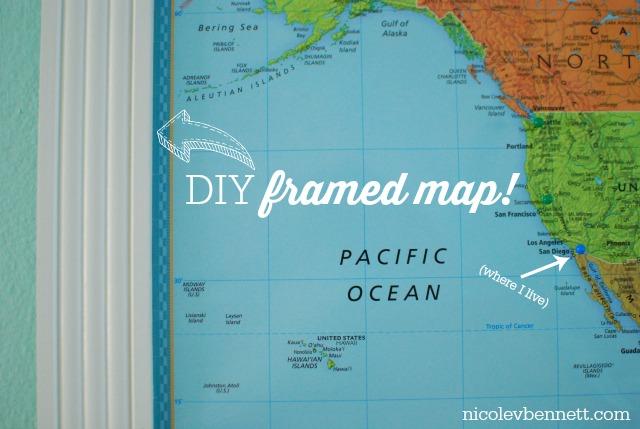 all done! DIY Framed Map