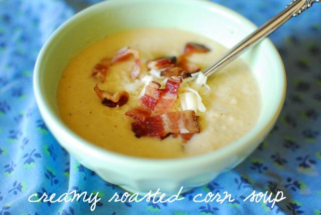 yum, creamy roasted corn soup