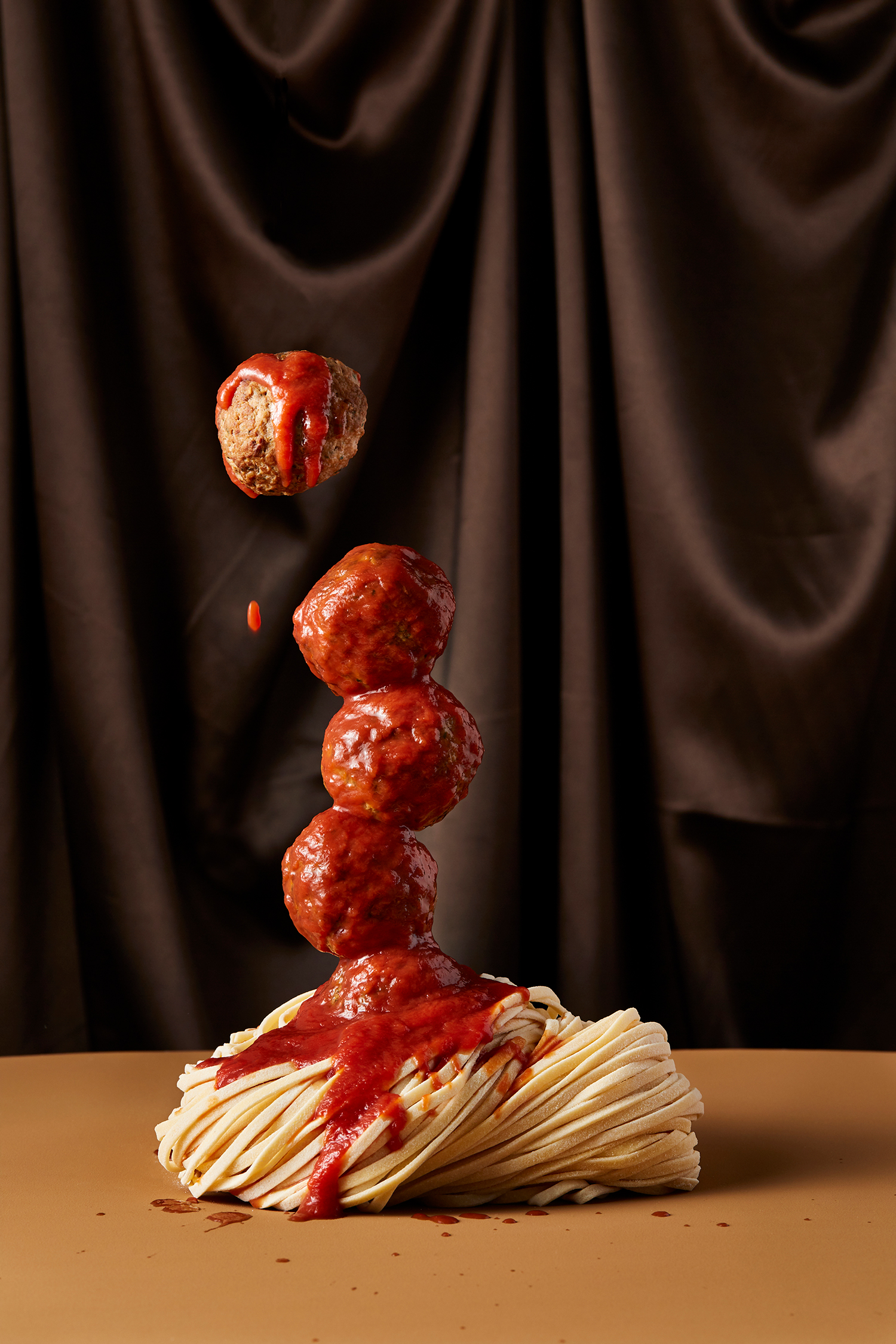 SPAGHETTI+MEATBALLS shot by Sydney advertising, Interior, food and lifestyle photographer Benito Martin