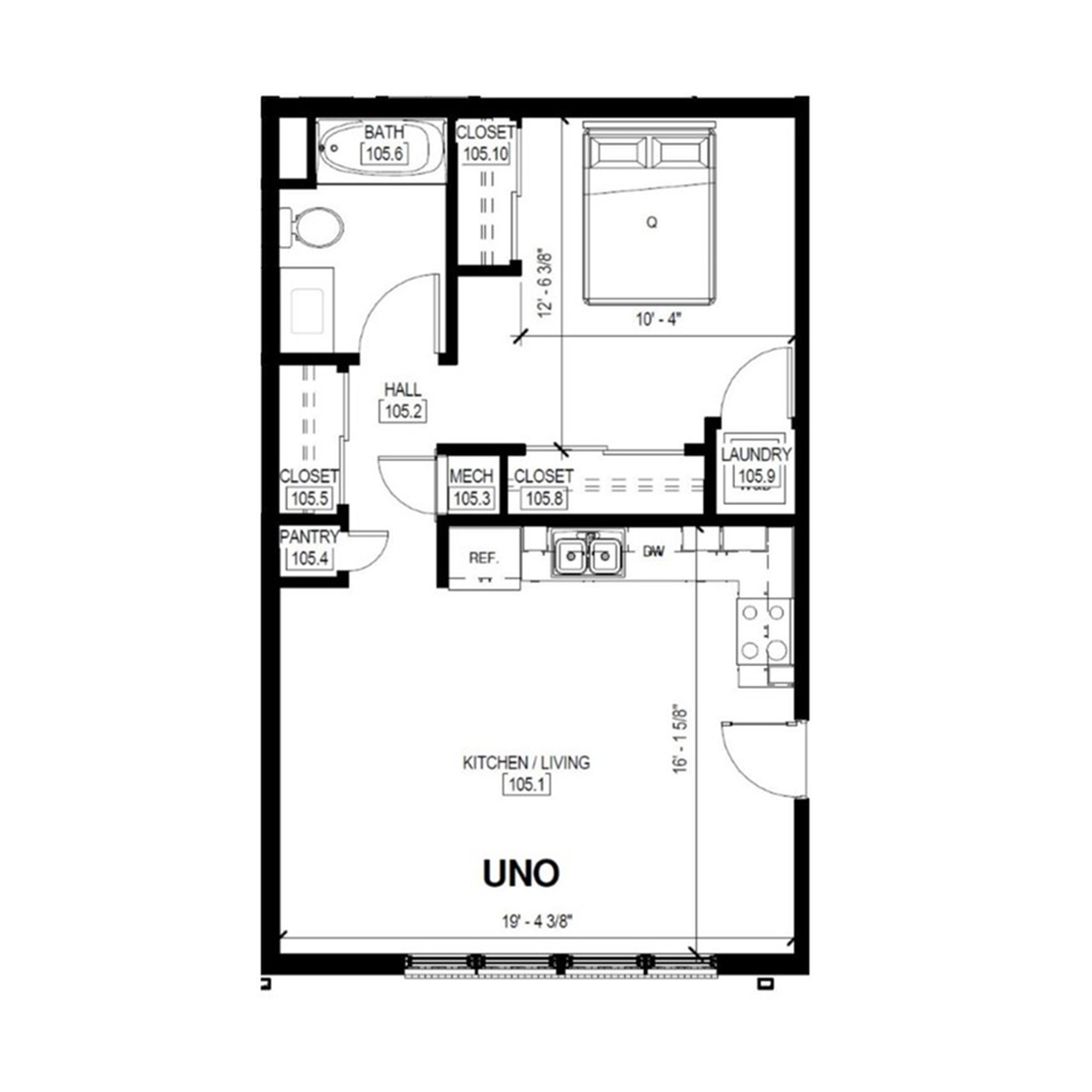 Uno A   1 Bed, 1 Bath