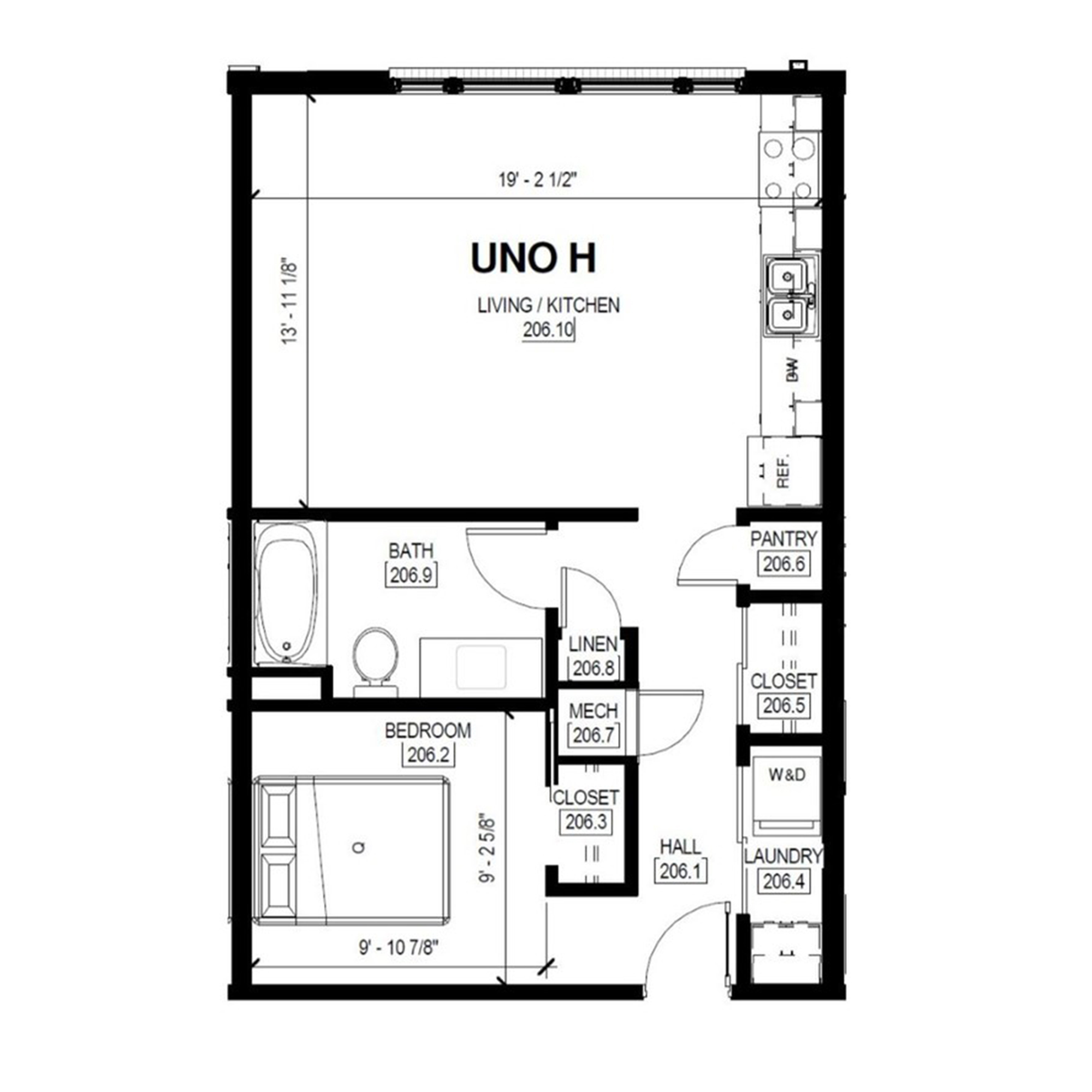 Uno H   1 Bed, 1 Bath