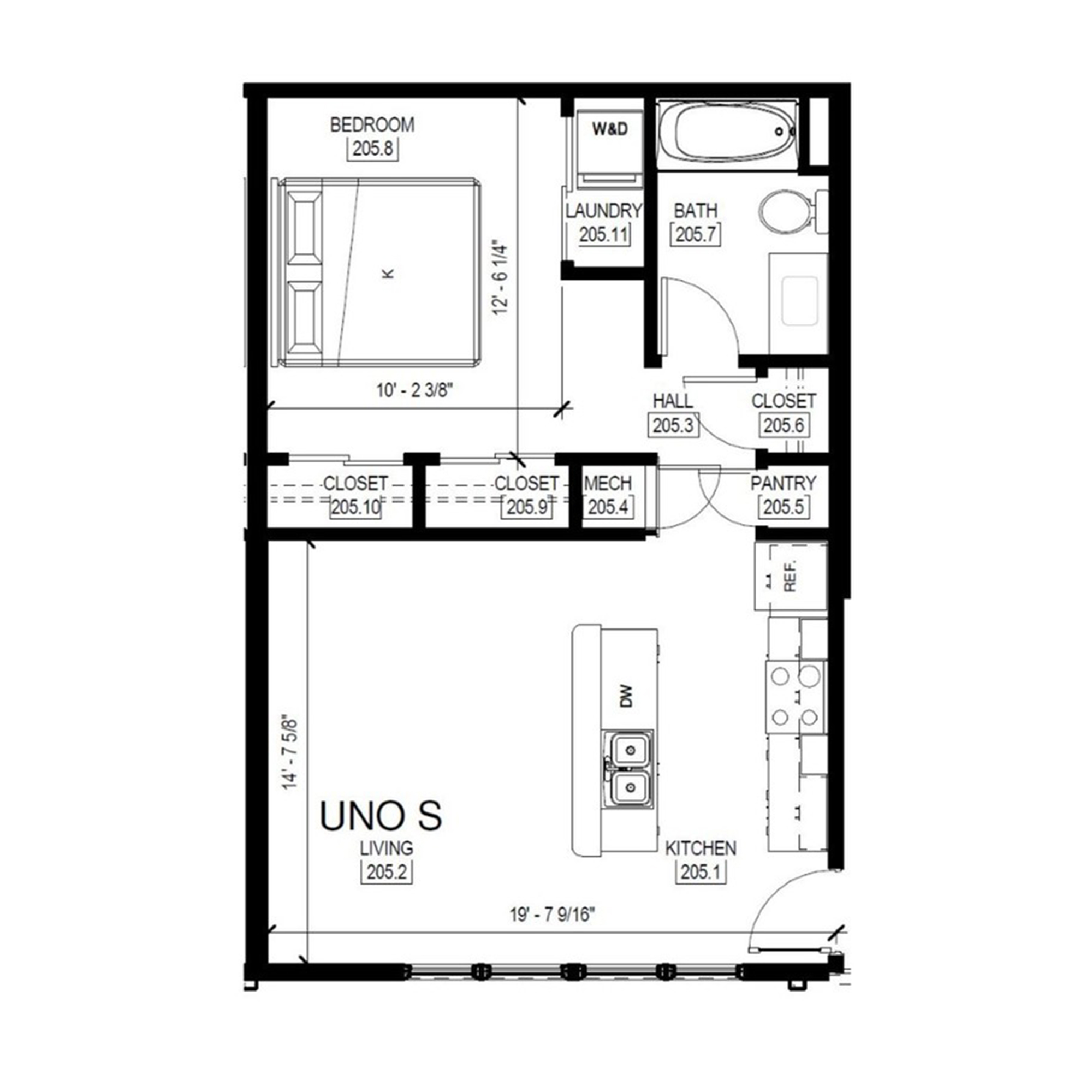 Uno S   1 Bed, 1 Bath