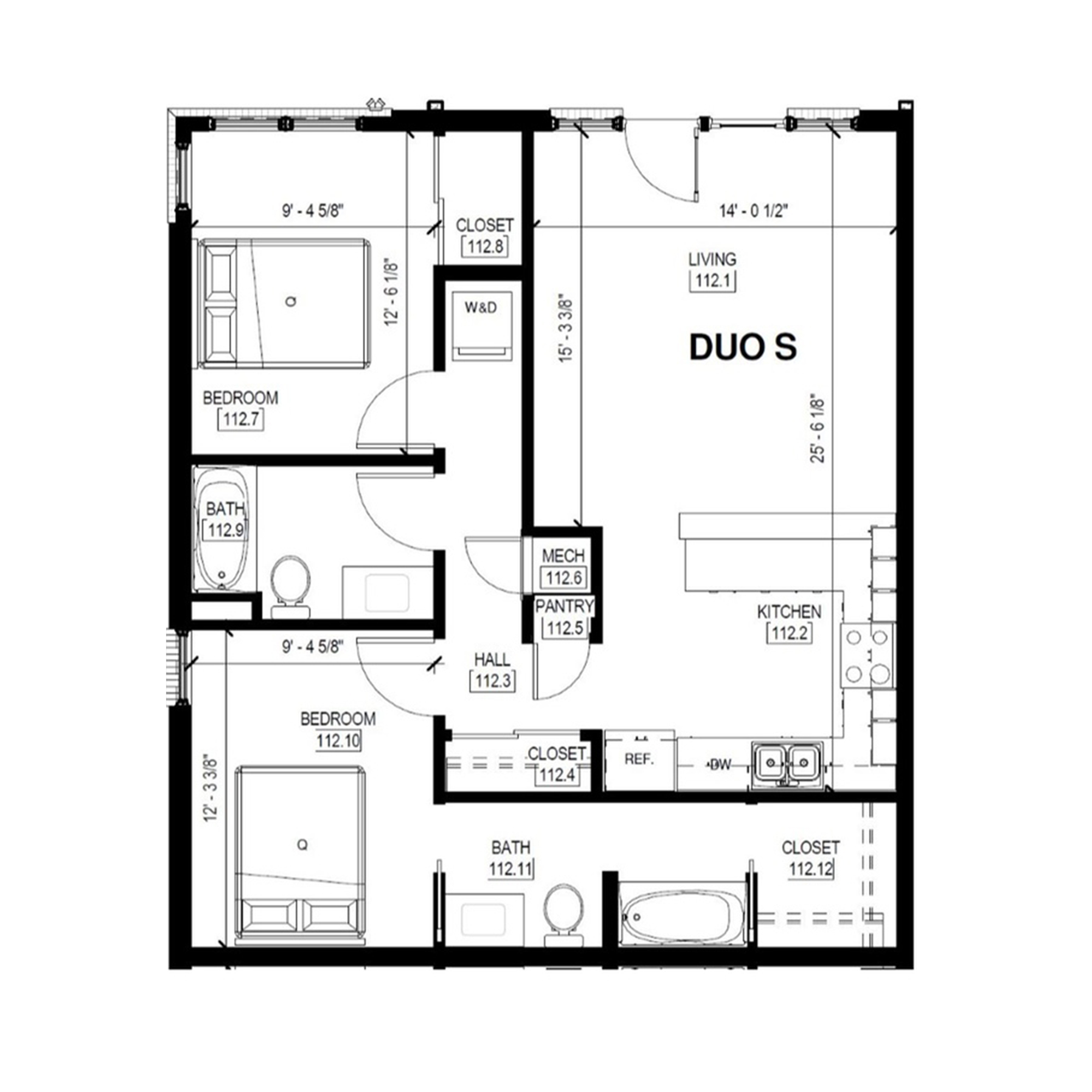 Duo S   2 Bed, 2 Bath