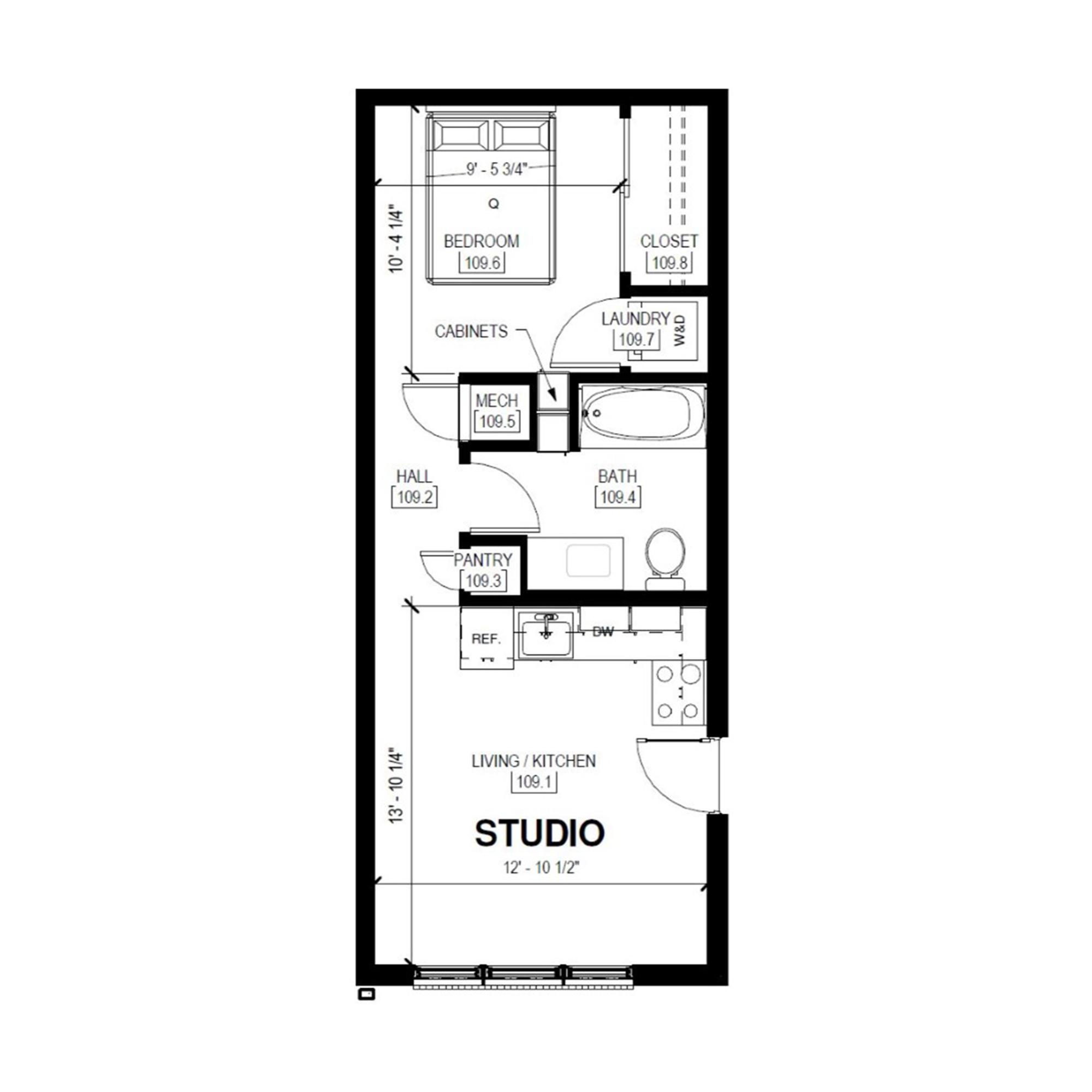 Studio   Studio, 1 Bath