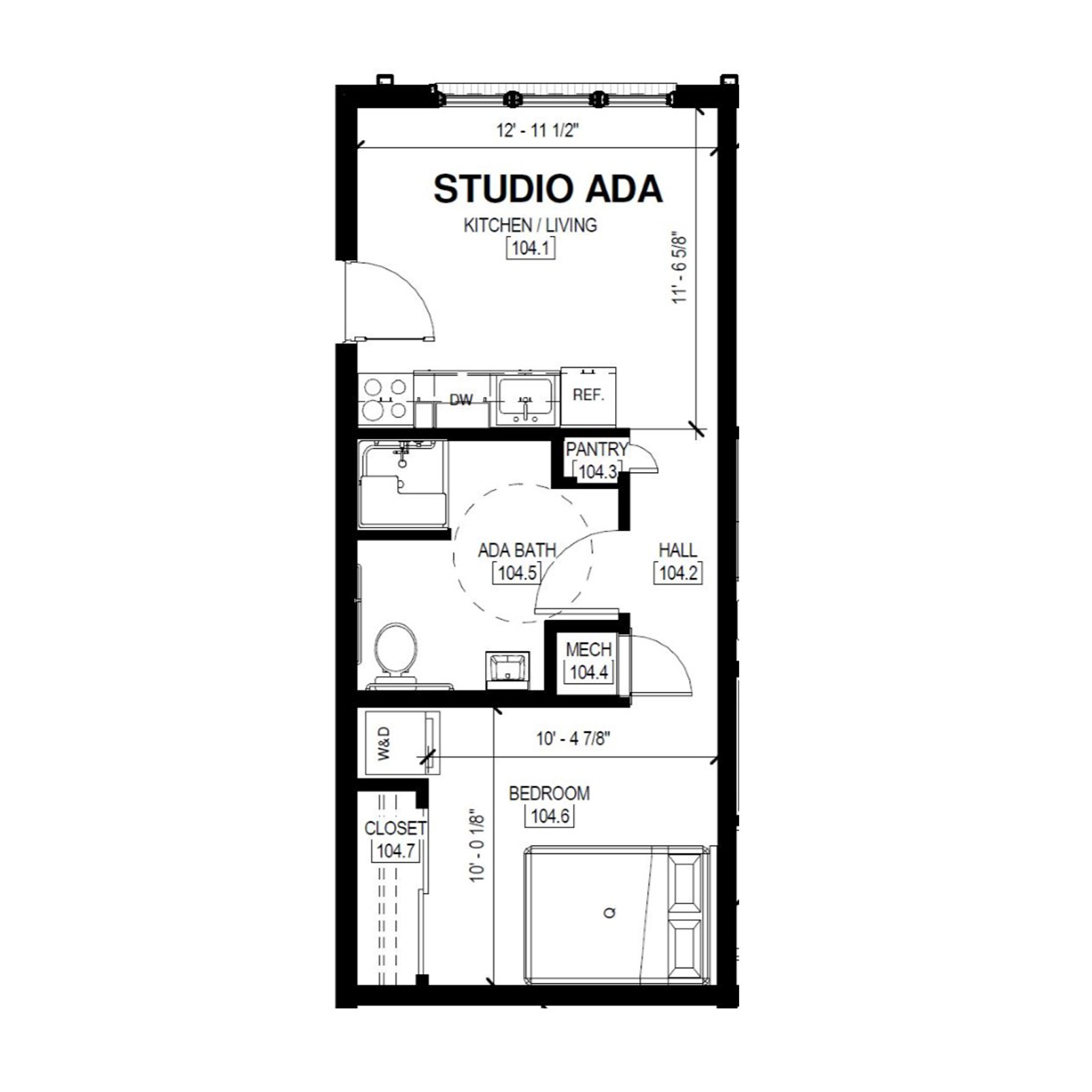 Studio Ada   Studio, 1 Bath