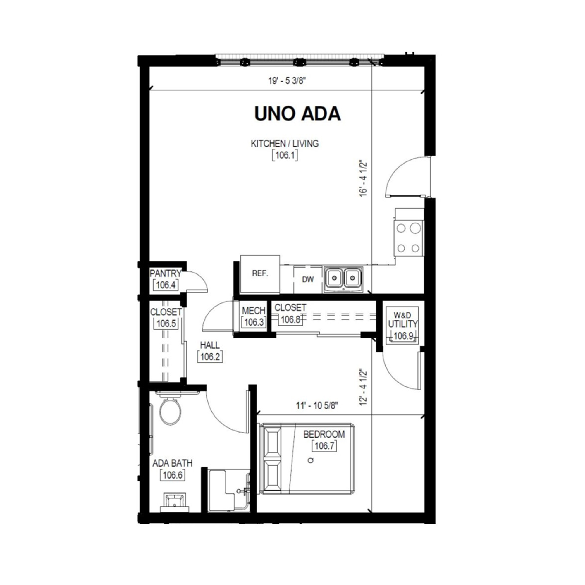 Uno Ada   1 Bed, 1 Bath