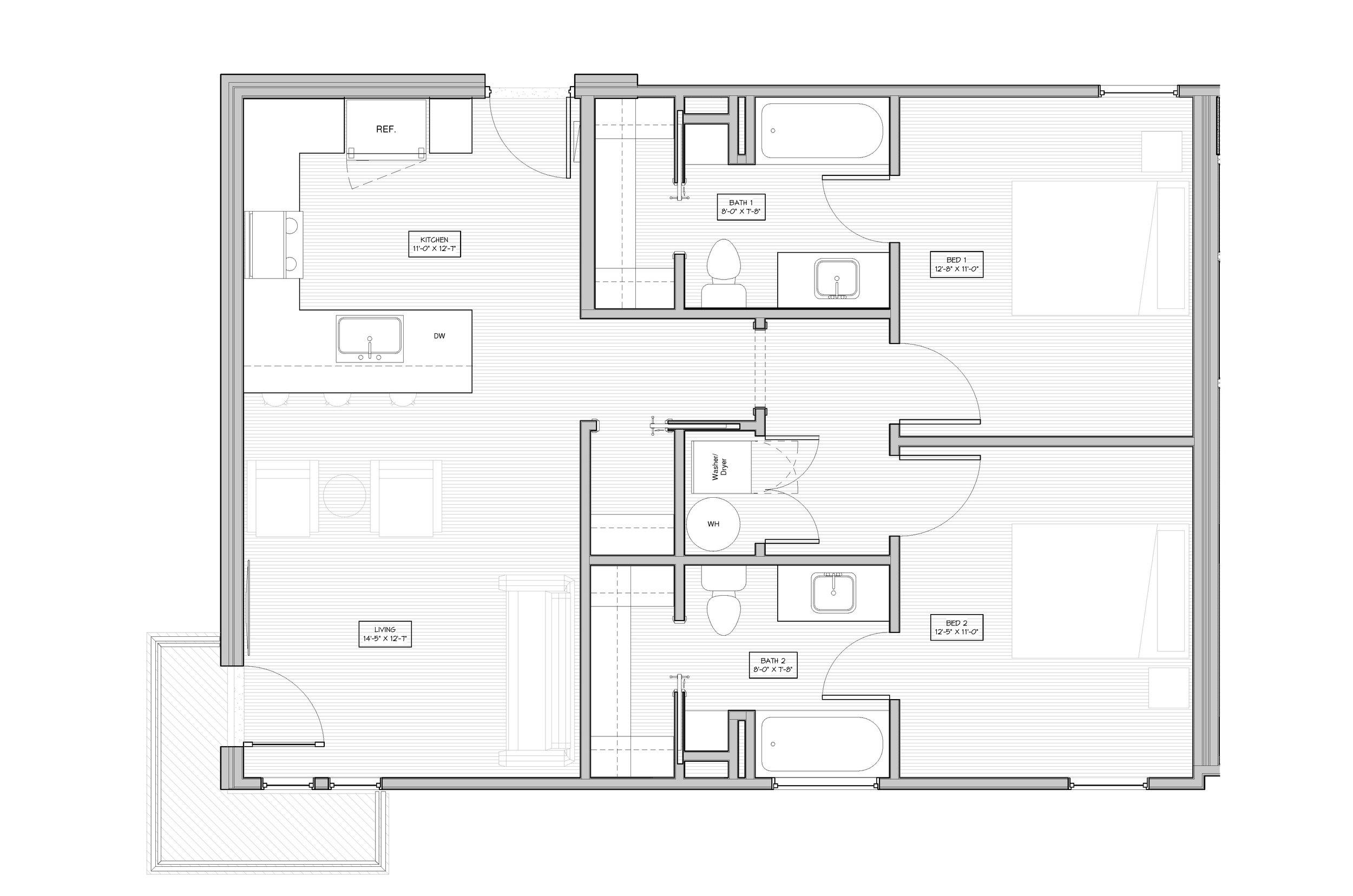 The Village, Flat 2 Bedroom, 2 Bathroom   943 Sq/ft