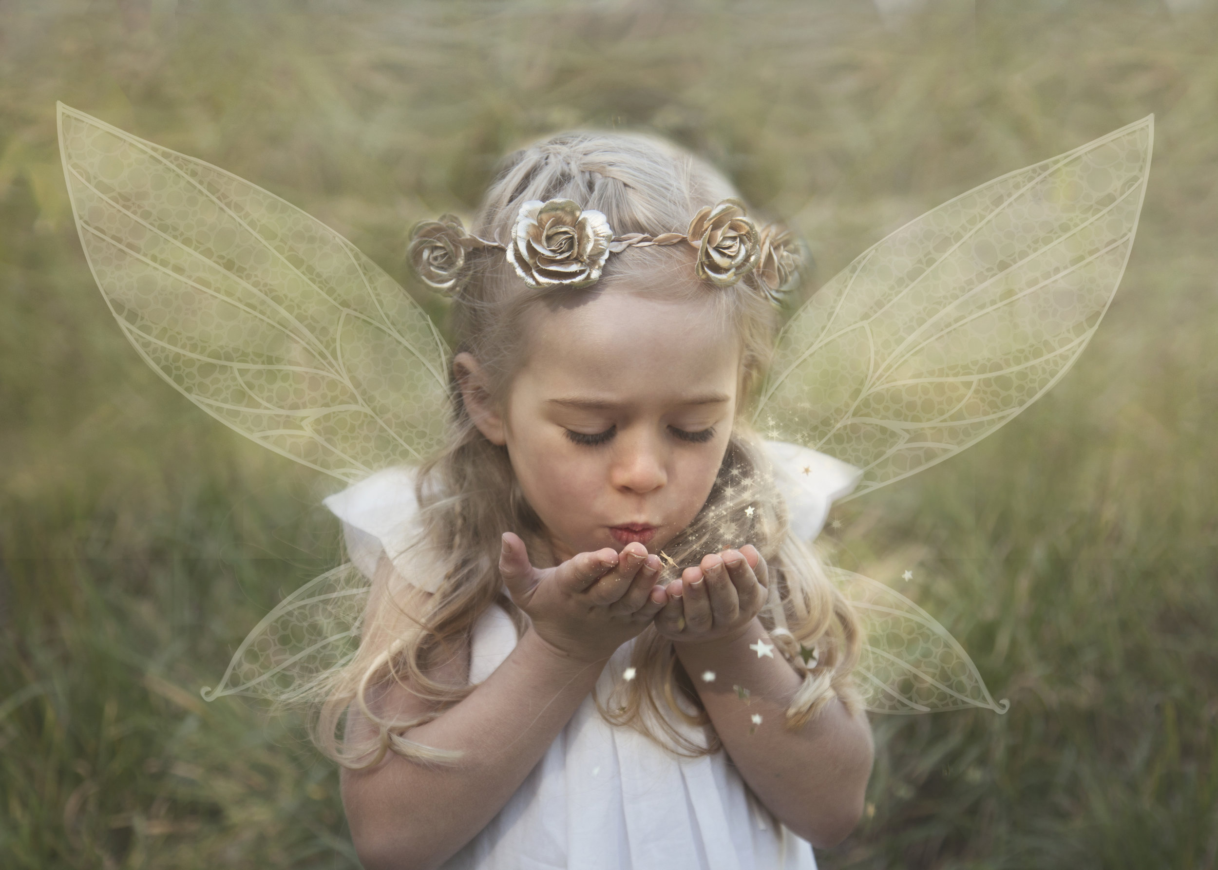 Girl with Fairy Wings