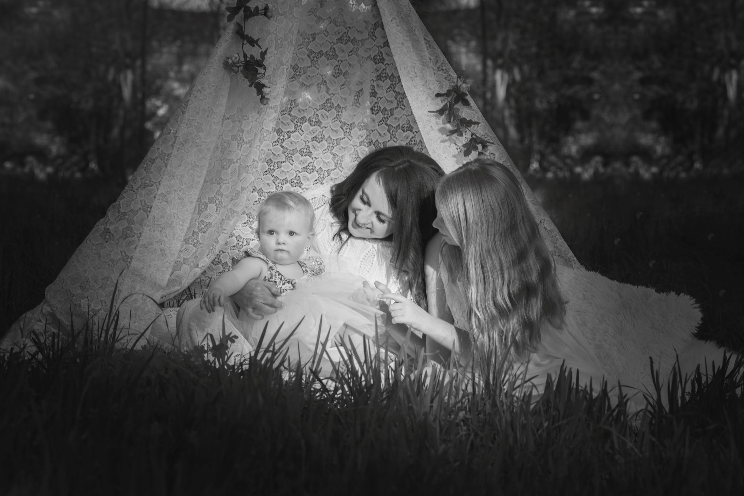 Family in Teepee