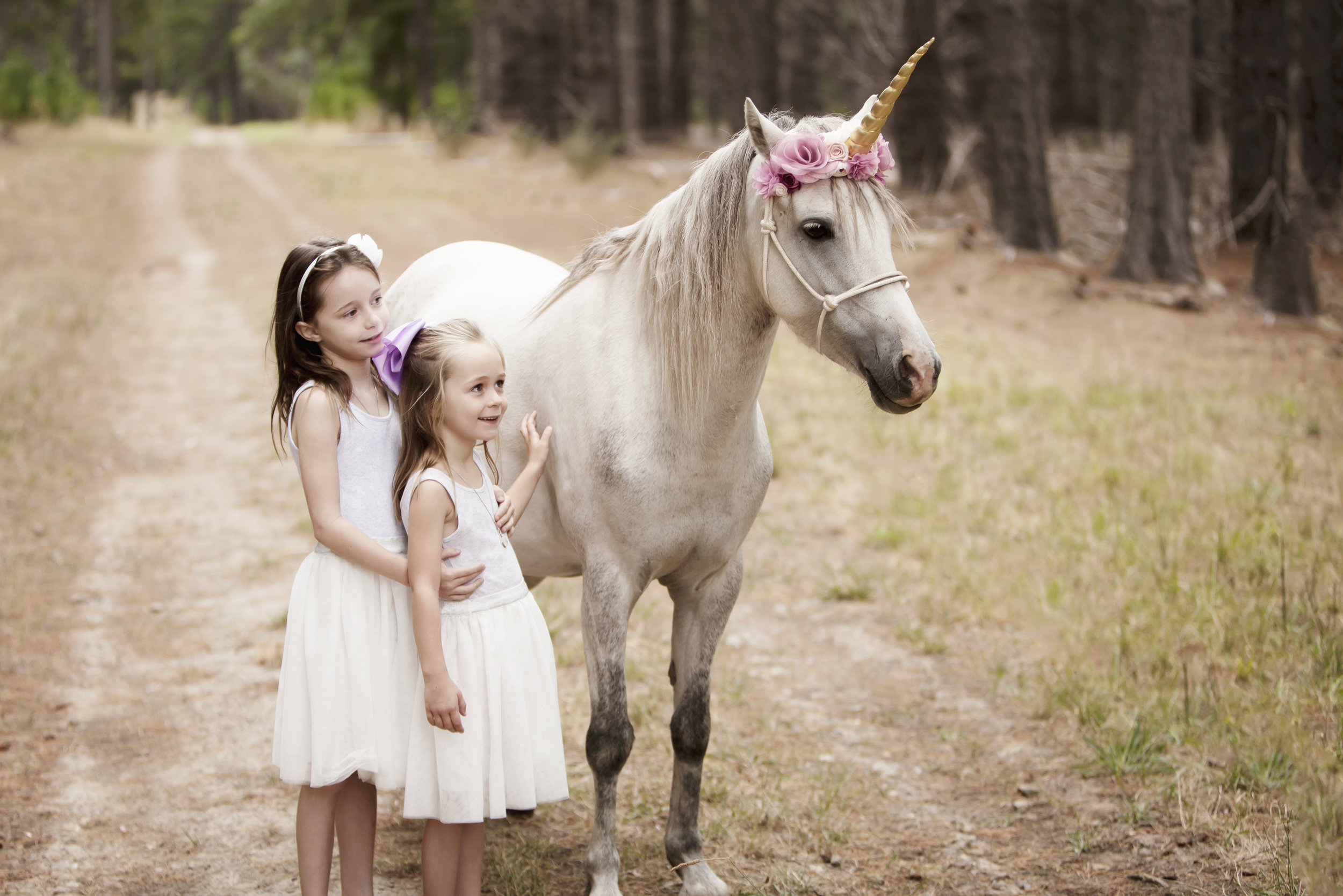 Sisters with Unicorn