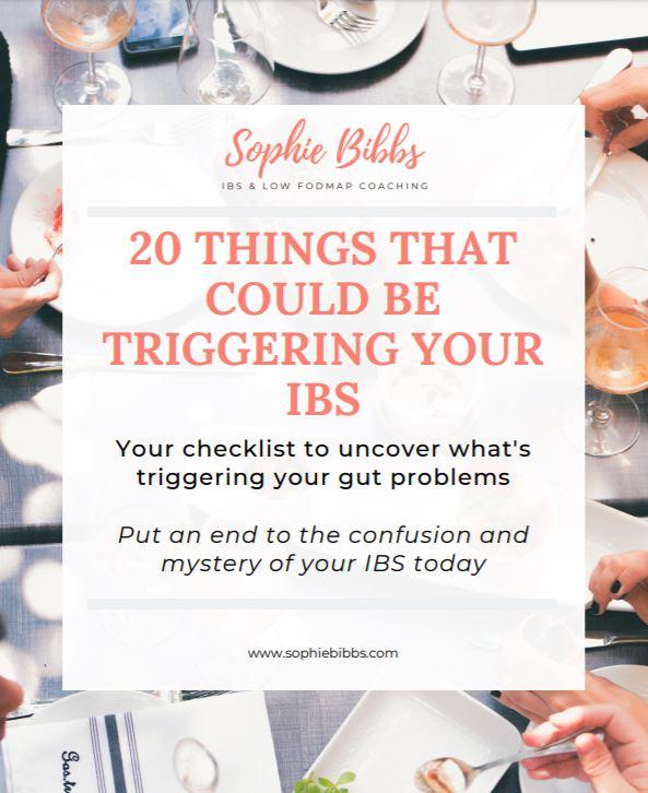 IBS Triggers Checklist