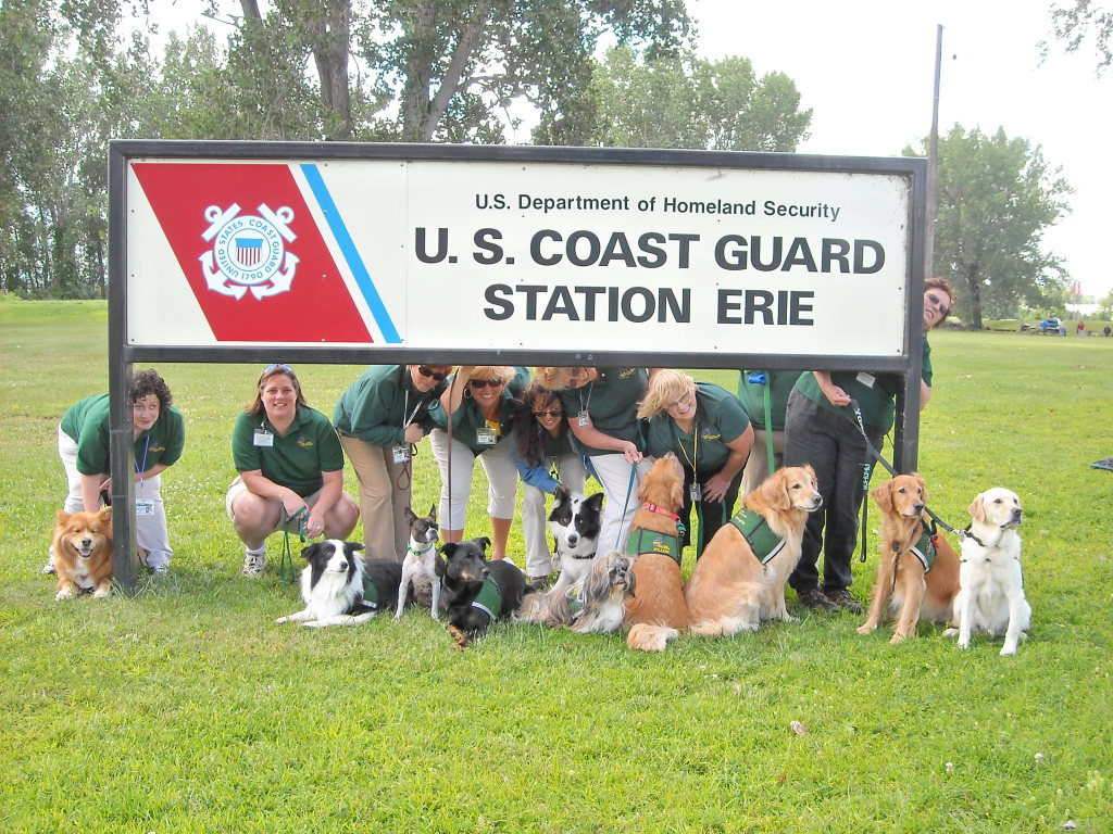 Therapy Dog Drill with Coast Guard