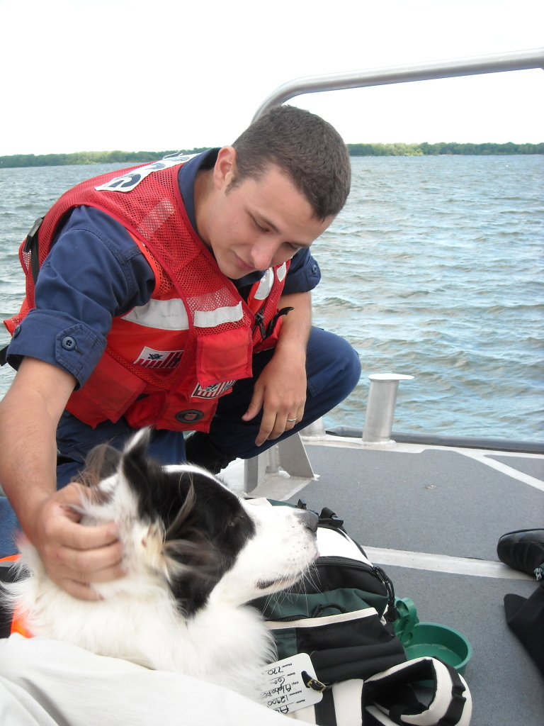 Susie's certified therapy and canine assisted rescue response dog on duty.