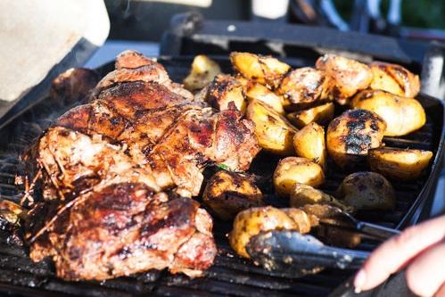 Barbequed Leg of Lamb with Rosemary & Garlic