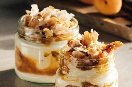 Apricot Coconut Cream Whip with Vanilla Bean