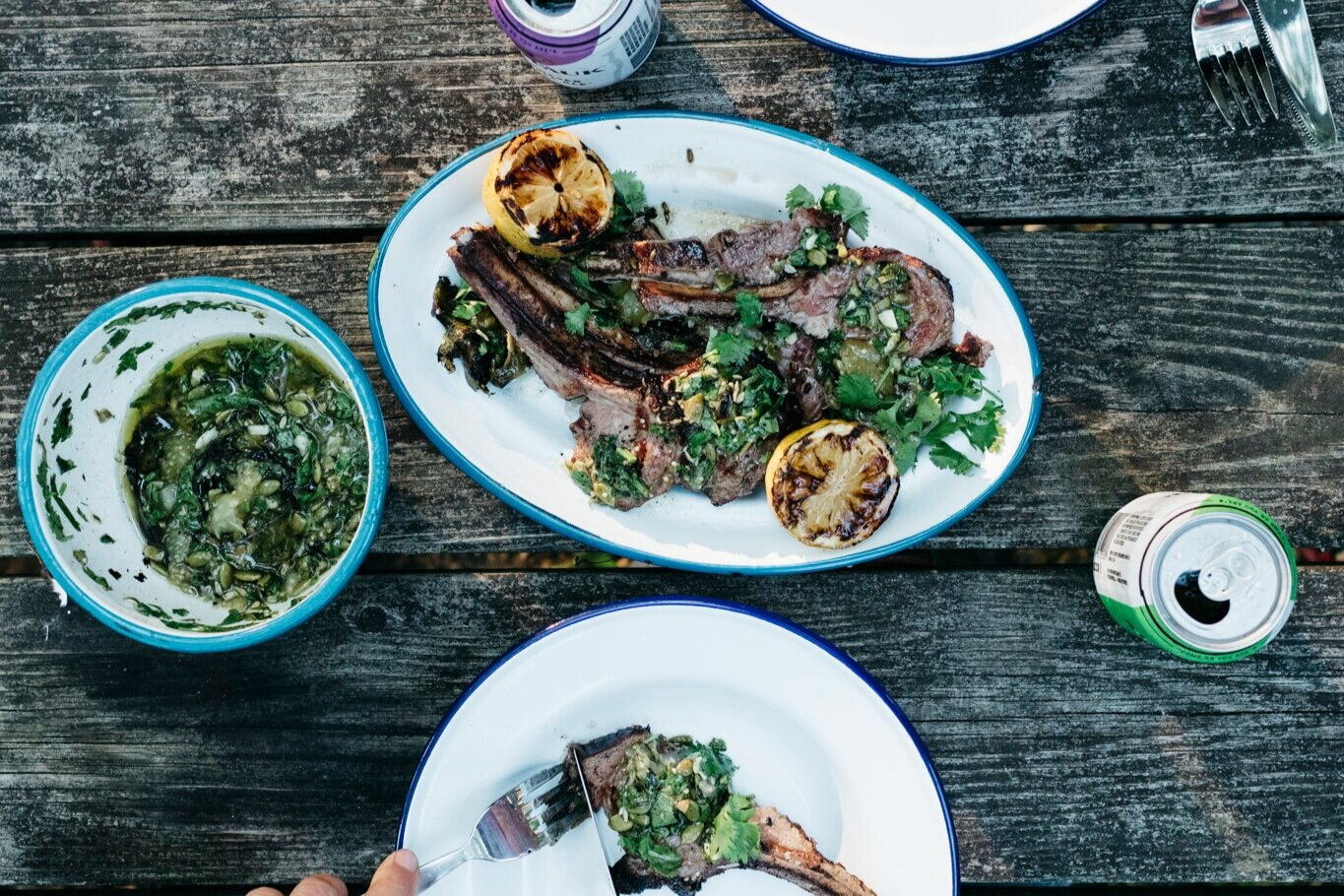 Lamb with Summer Tomatillo Mint Sauce