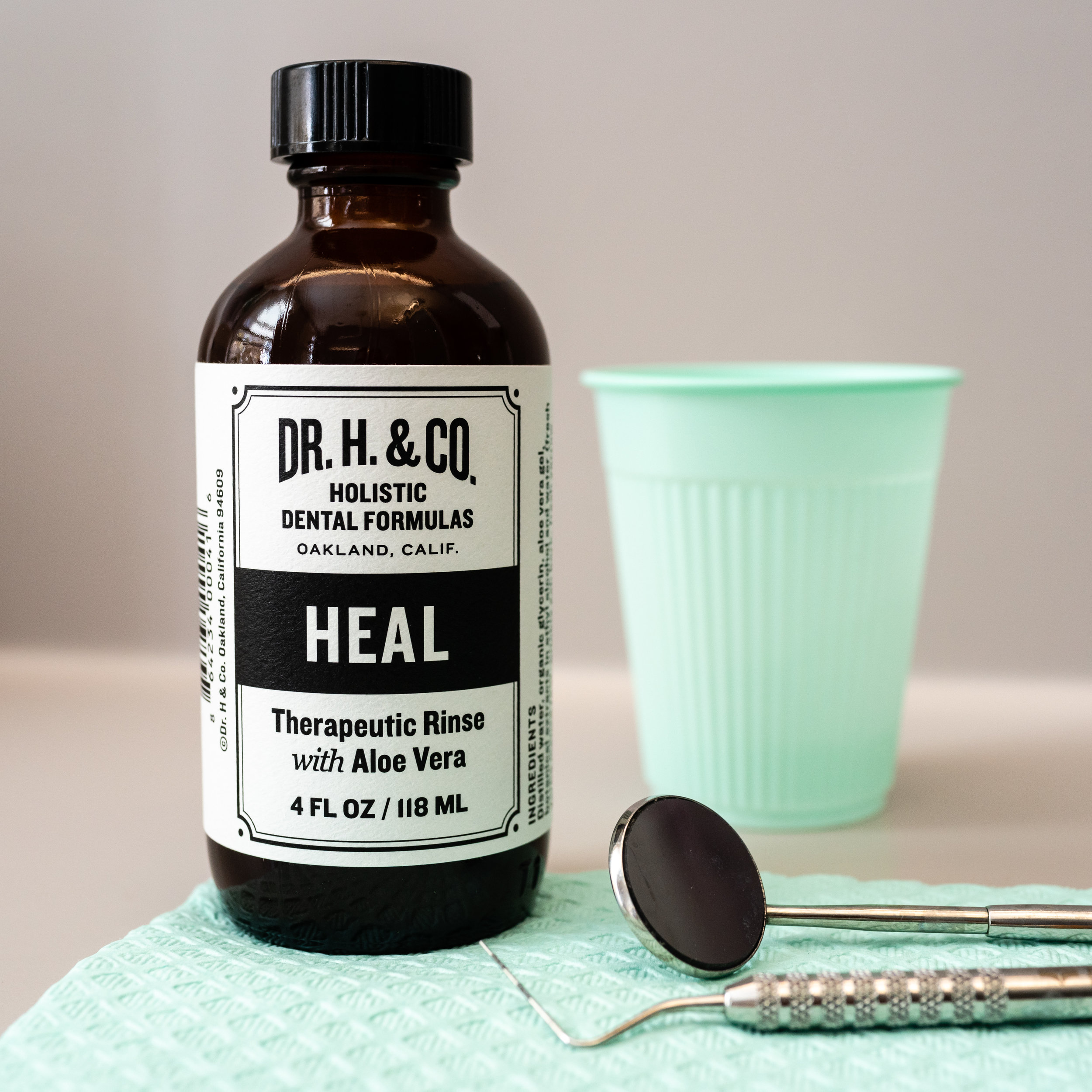 Dr. H. & Co. Heal Therapeutic Mouth Rinse All Natural & Professional Strength Mouth Rinse for Gum Health