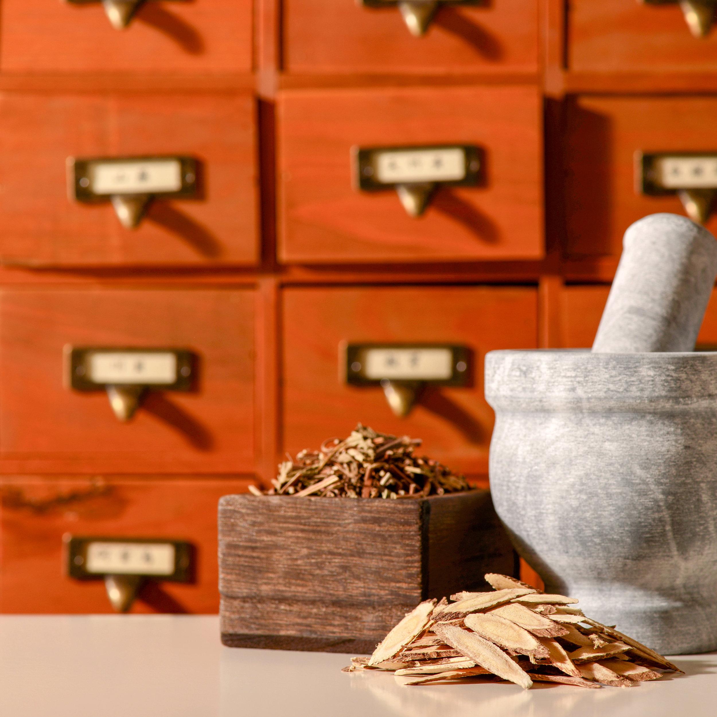 Herbalist Drawers Morter Pestle
