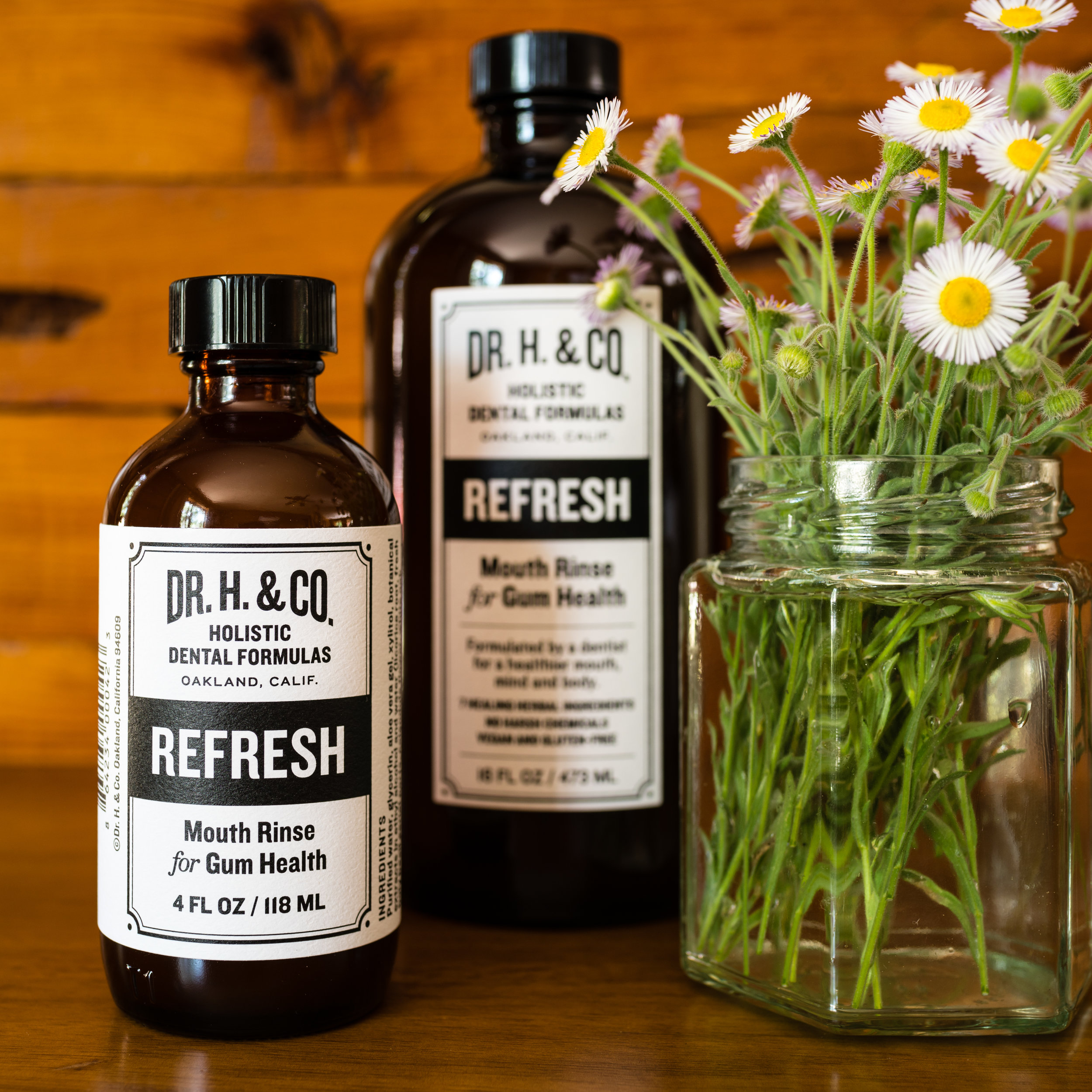 Dr. H. & Co. Refresh Mouthwash All Natural Herbal & Holistic Mouthwash for Healthy Gums & Teeth