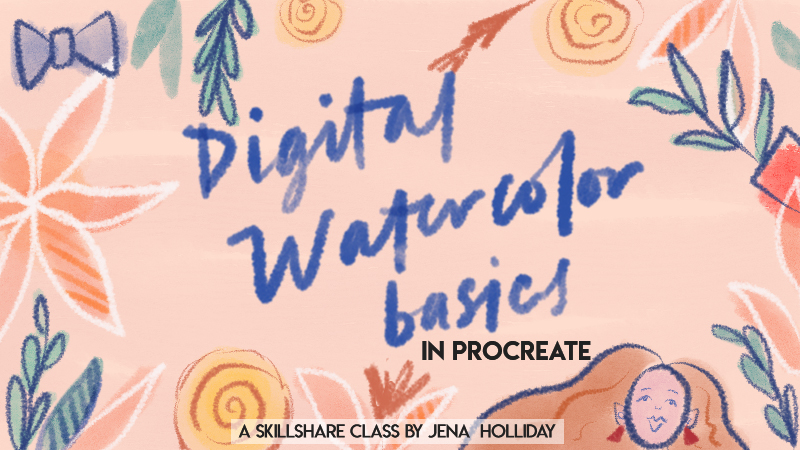 Digital watercolors in procreate - Learn how to create your own digital watercolor illustration in Procreate! By the end of the course you will have your very own digital watercolor piece!