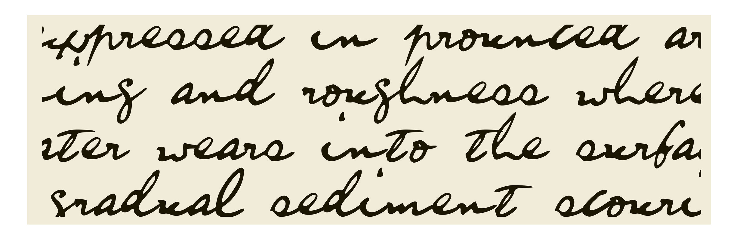 above: digital cursive font I created from papers of W.R. Rodgers in the  PRONI  archives.