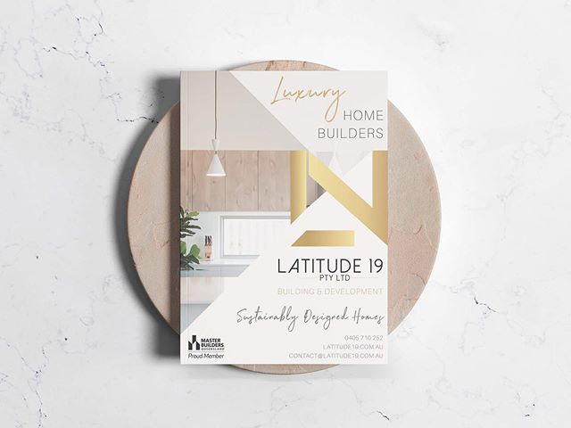 Brochure design for @latitudenineteen 🏡
