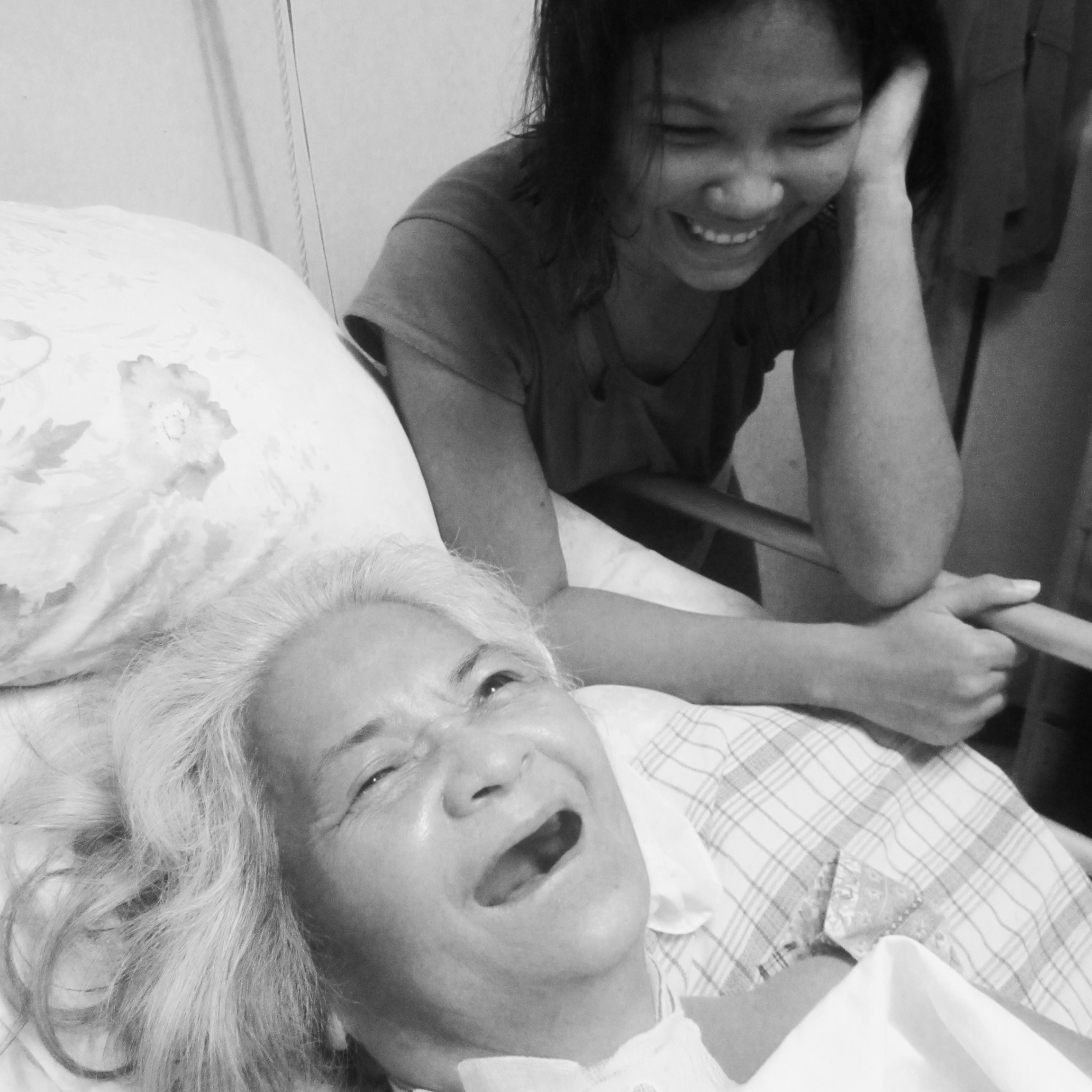 "VOLUNTEER VISITS - Our volunteers bring joy to patients through laughter therapy, music, art, and our ""Happy Room"" project. Through skilled and compassionate service, we do not just uphold dignity: we spread HOPE. Though cure may be no longer possible, care is."
