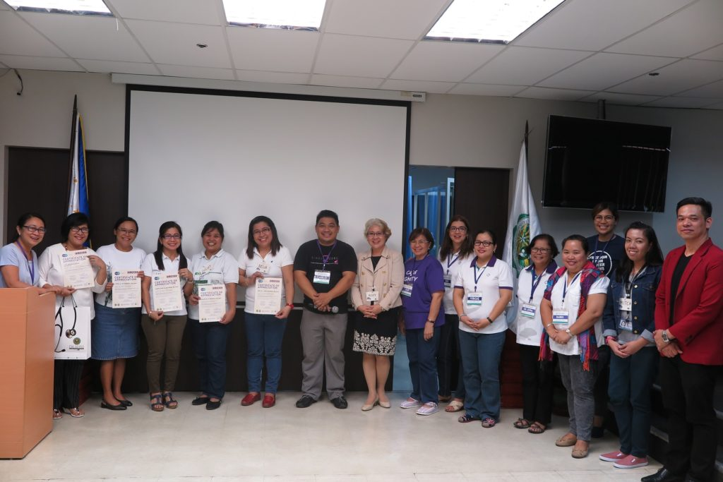 Co-organizers from De La Salle Health Sciences Institute College of Nursing and The Ruth Foundation pose for a picture