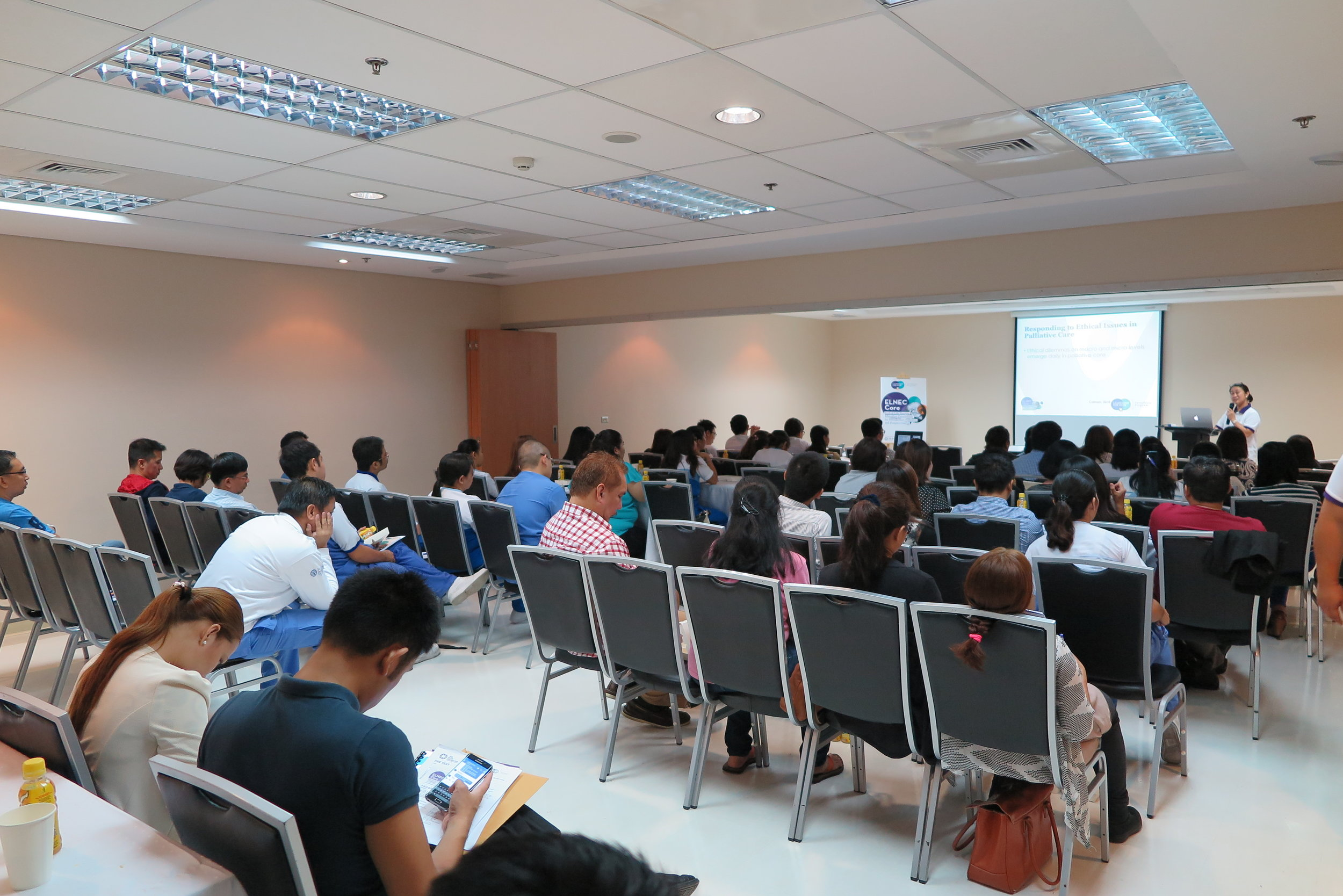 Over 50 participants filled the lecture room.