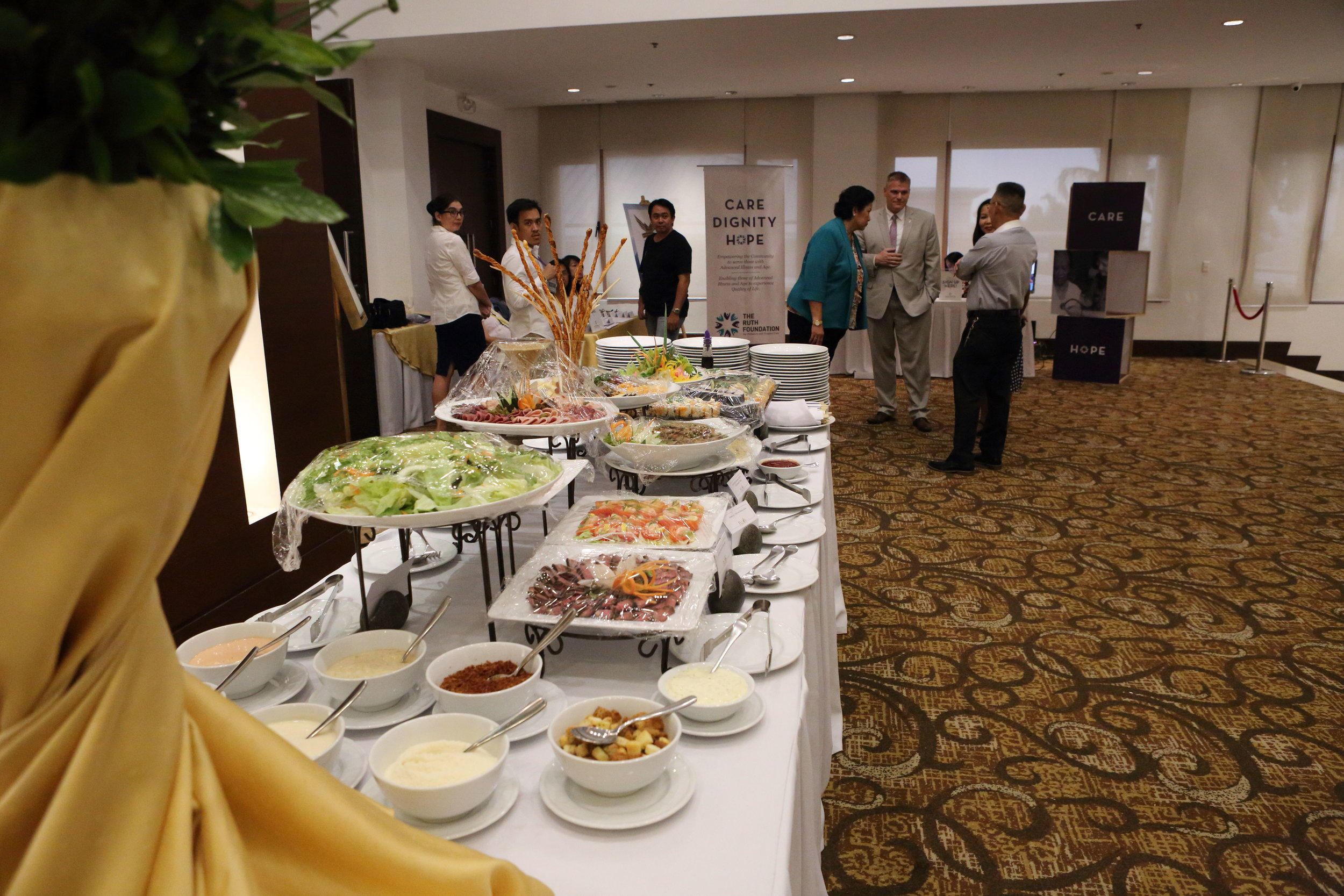 A buffet line was set-up outside, along with information on each of the foundations.