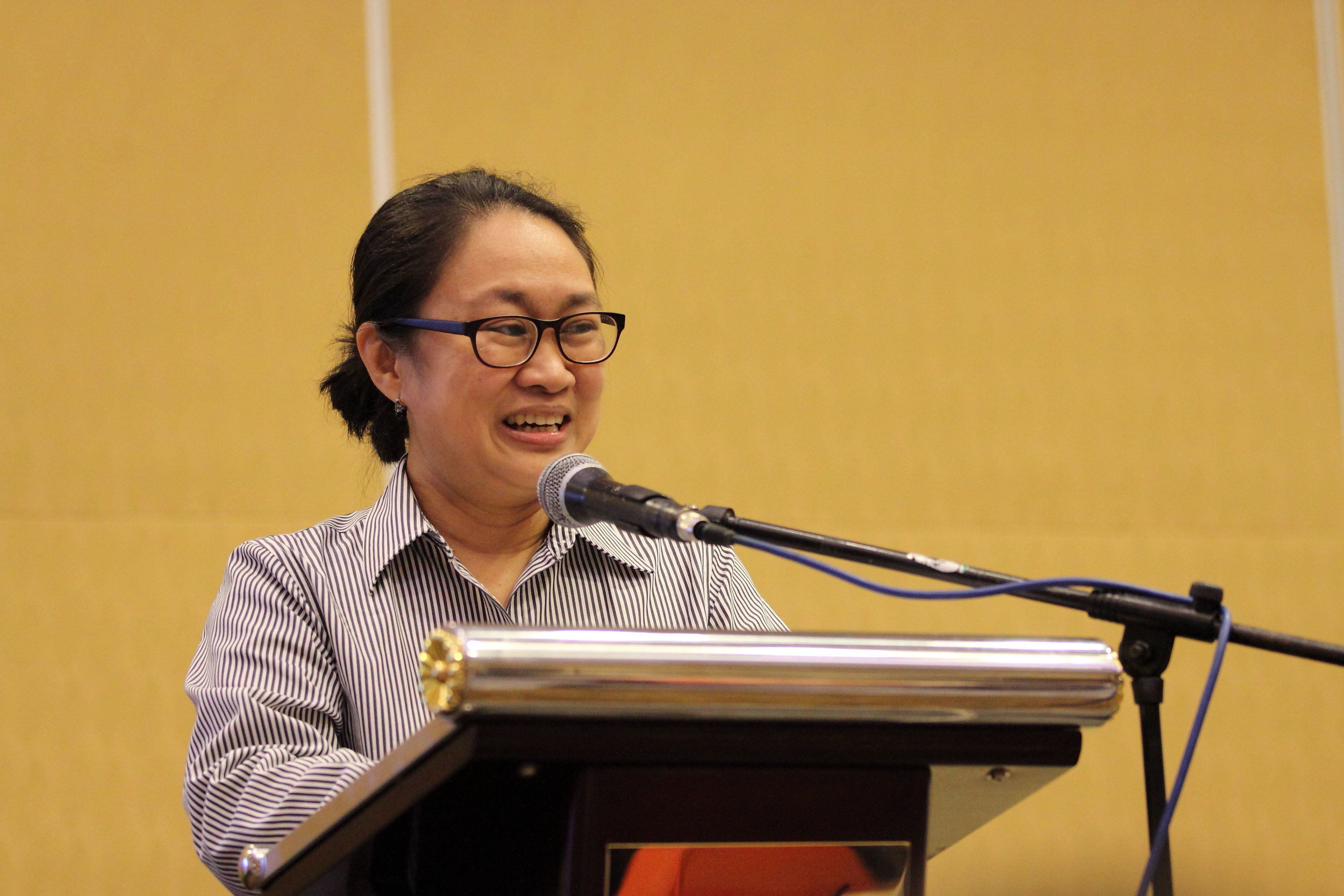 Dr. Rumalie Corvera, president & CEO of The Ruth Foundation, opened the event and gave a talk on the Filipino response to the burden of hospice care.