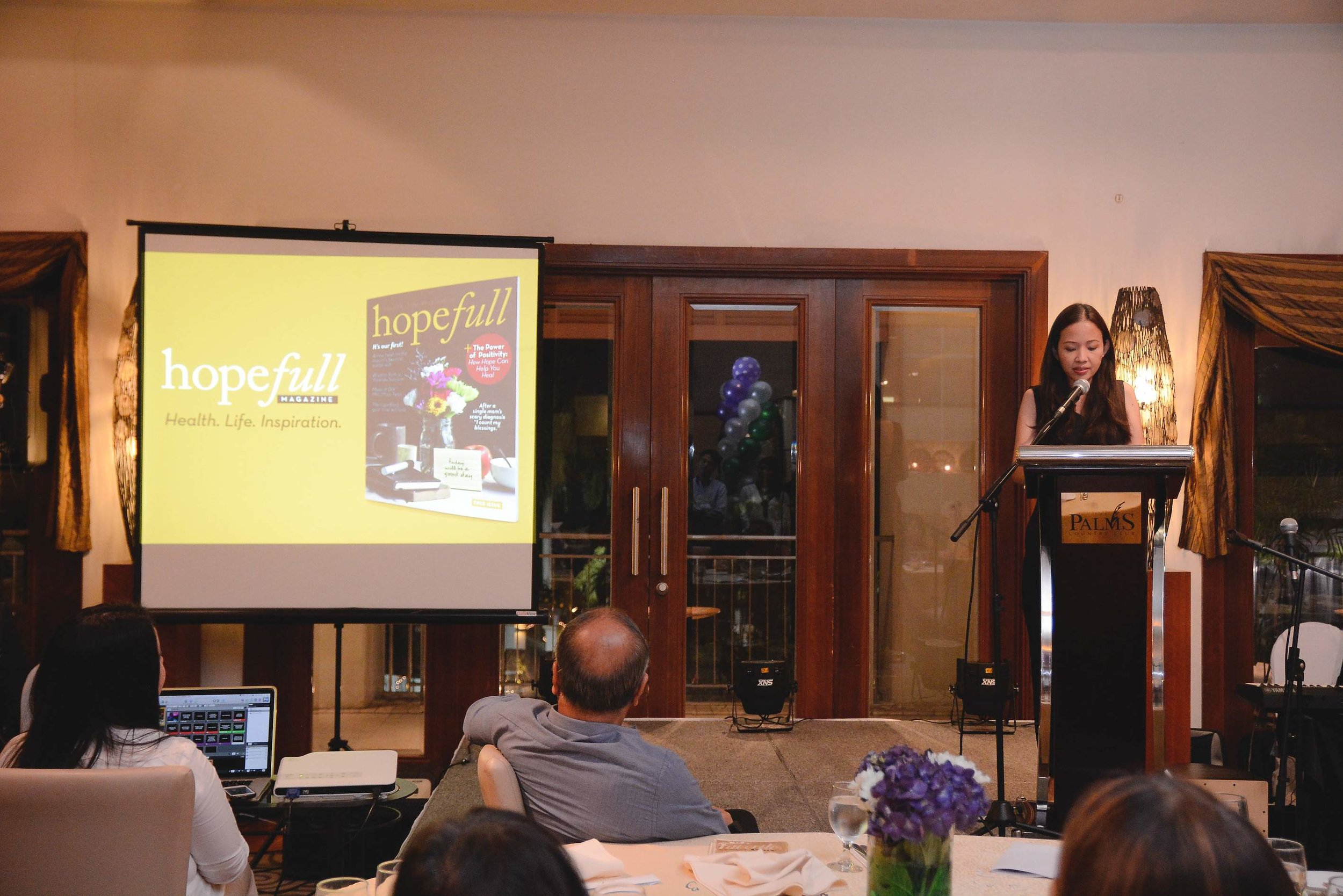 Hope full magazine's editorial director    Ina Amor-Mejia    introducing the first issue
