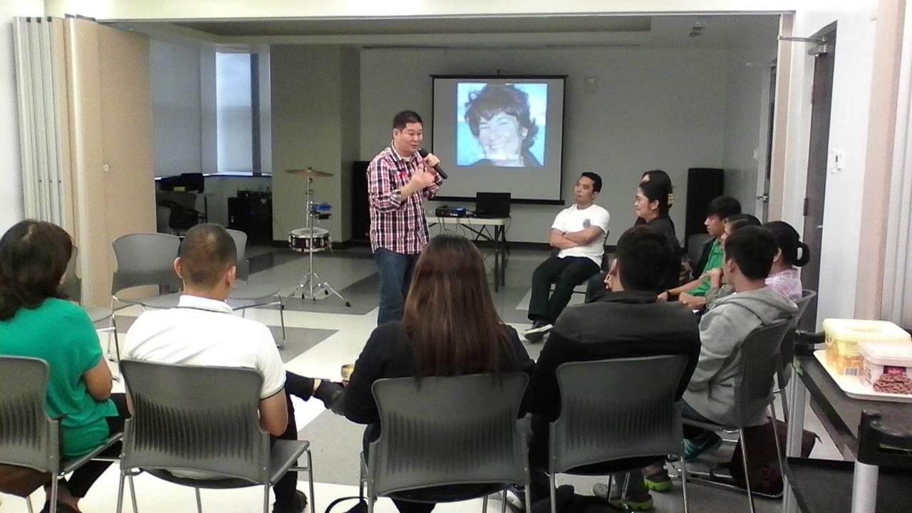 Mr. Paolo Trinidad sharing his knowledge on simulated and real laughter